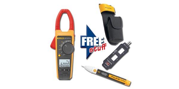 Fluke 375 Clamp Meter : Fluke kit clamp meter with free stuff