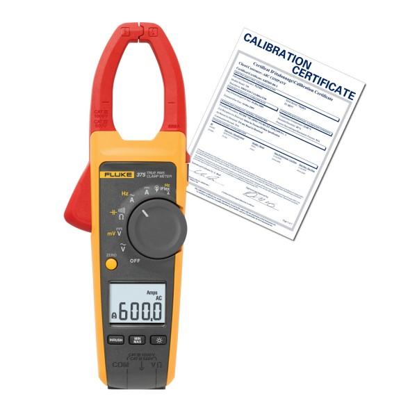 Fluke 375 Clamp Meter : Fluke nist true rms ac dc clamp meter cal