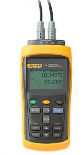 Fluke 1523-P1-156 Handheld Thermometer Readout with 5616 PRT, -200 to 420°C, 100Ω-