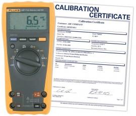 Electrical Testing Fluke 87V Digital Multimeter with a NIST ...