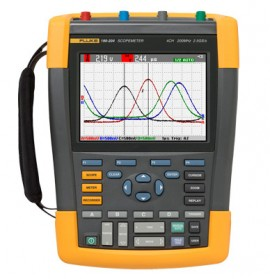 Fluke 190-104/AM/S ScopeMeter® Oscilloscope with SCC-290 kit-