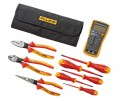 Fluke IB117K 117 Electrician's Multimeter and Insulated Hand Tools Starter Kit with roll up pouch-