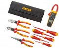 Fluke IB376K 376 FC Series True RMS Wireless Clamp Meters and insulated hand tools starter kit, 1000 V-