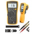 Fluke 116/62 MAX+ HVAC Multimeter and IR Thermometer Combo Kit-